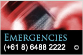 For emergencies, call +61 8 6488 2222